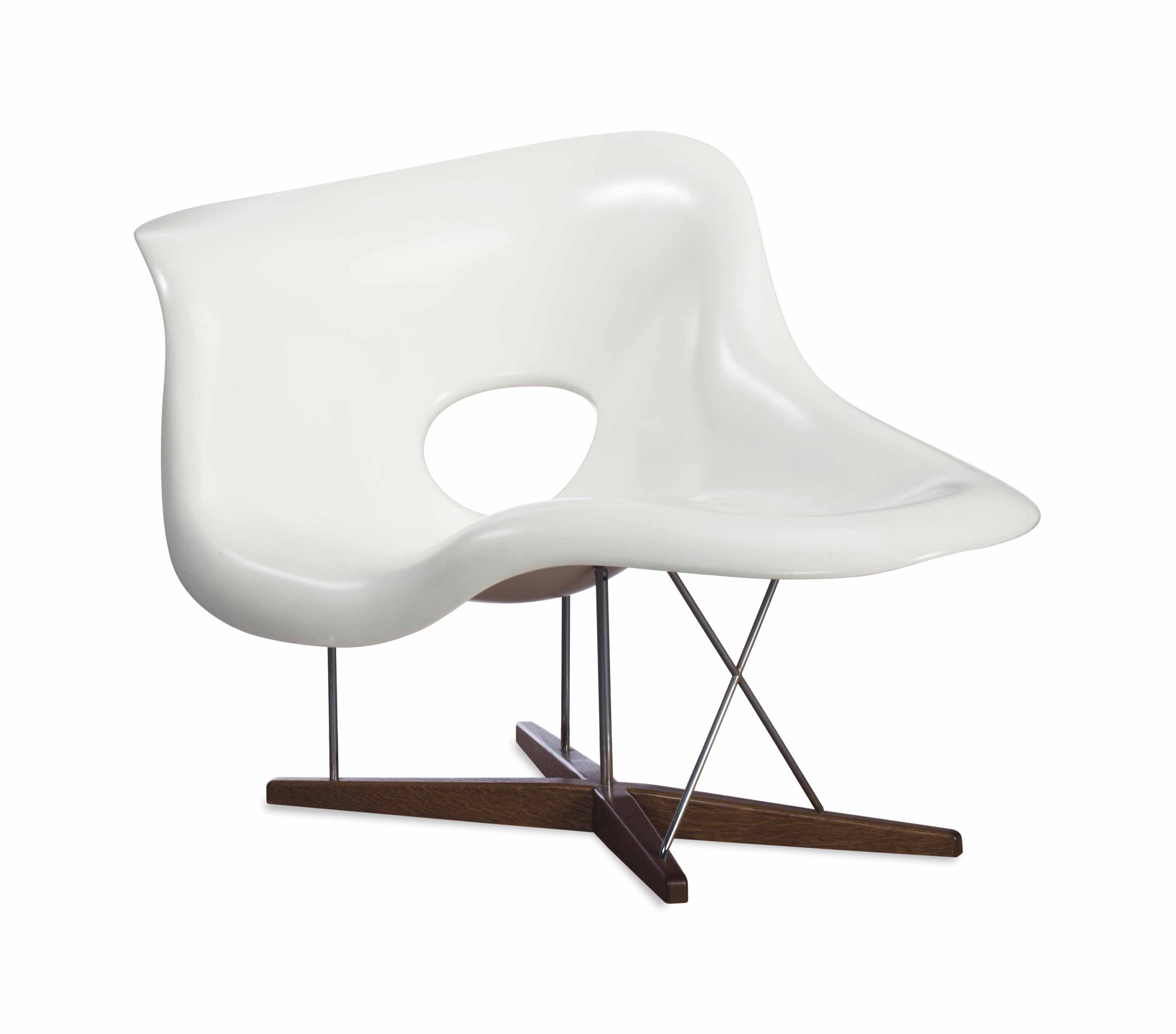 La Chaise Lounge Chair A White Fiberglass Aluminum And Oak La Chaise Lounge Chair