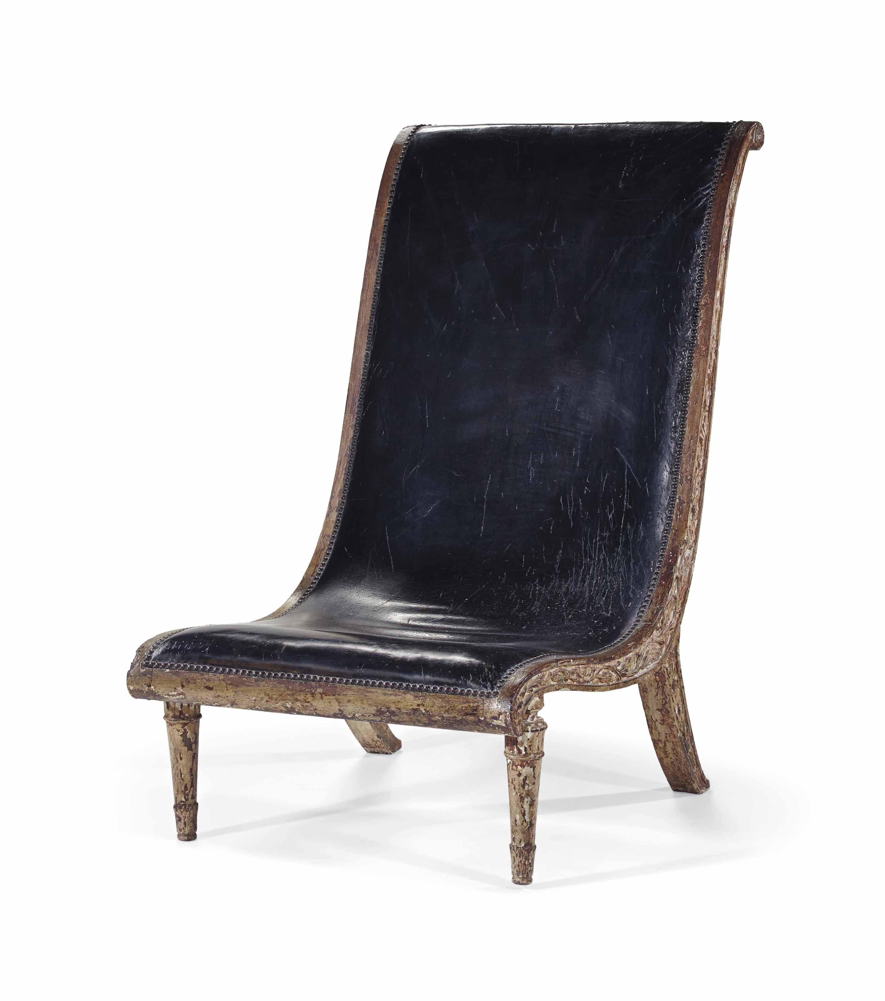 Chaise Basse Chaise Basse Neoclassique Europe Du Nord Xixeme Siecle