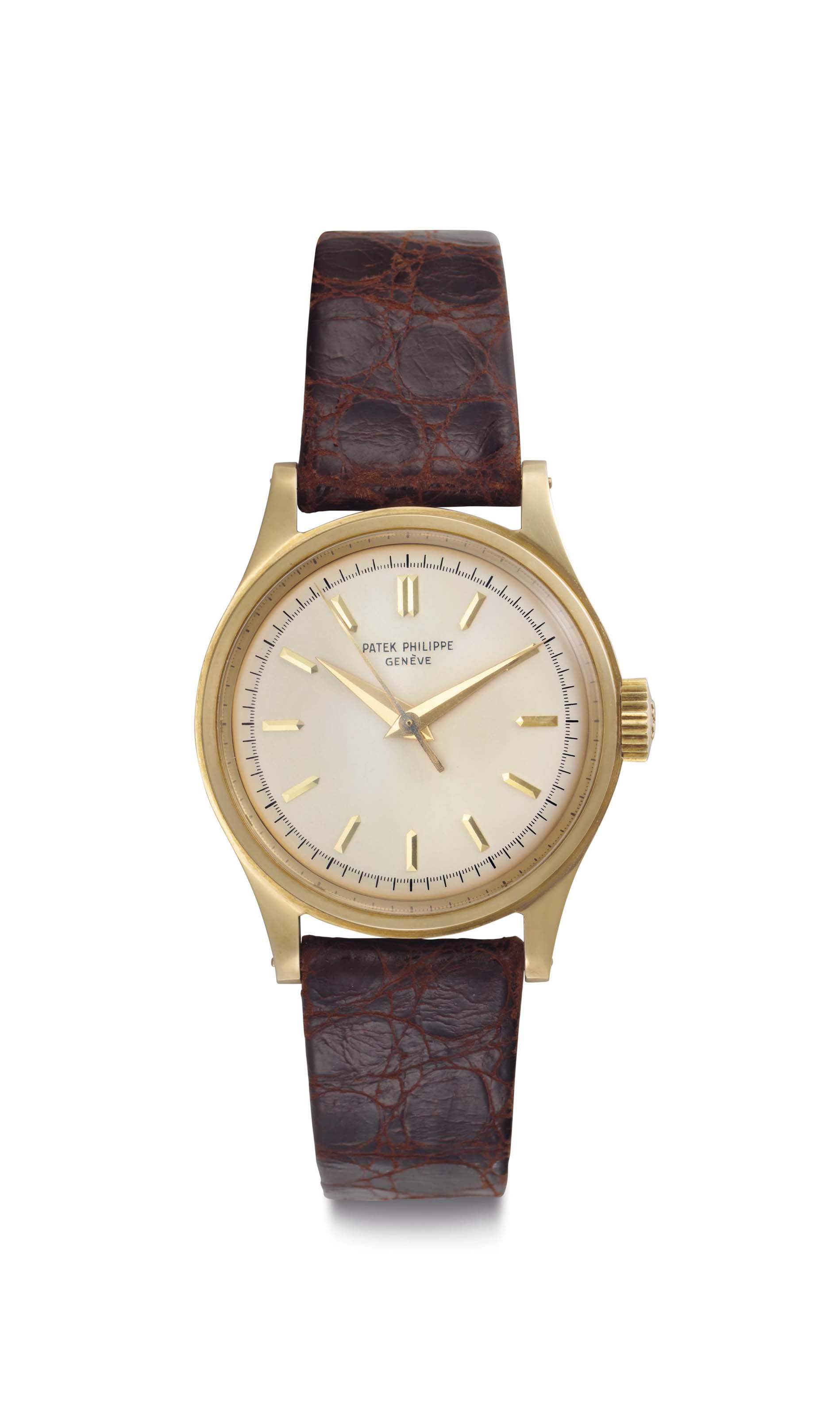 P Philippe Watch Patek Philippe A Fine 18k Gold Wristwatch With Center Seconds