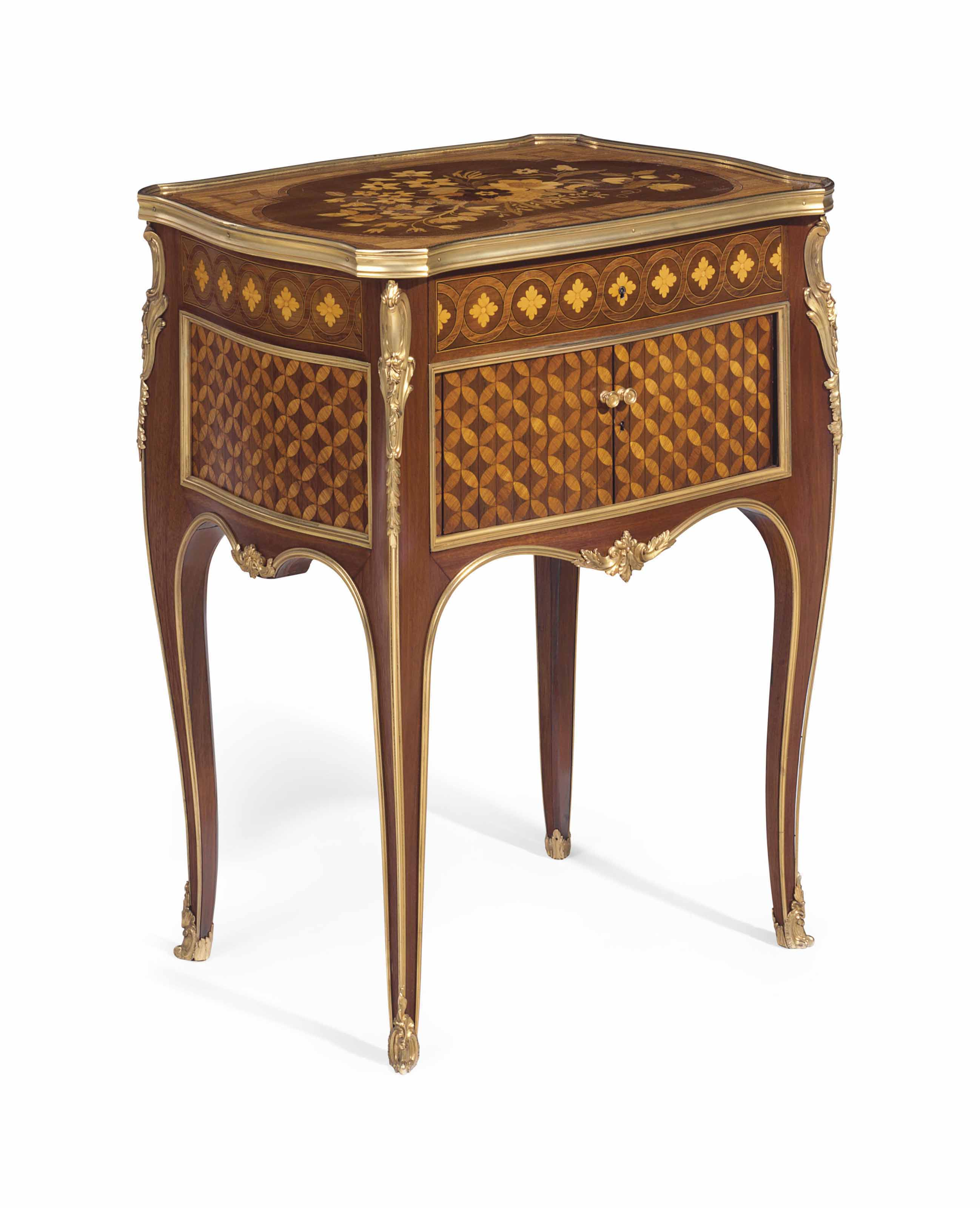 Table De Nuit New York A French Ormolu Mounted Mahogany Tulipwood Sycamore