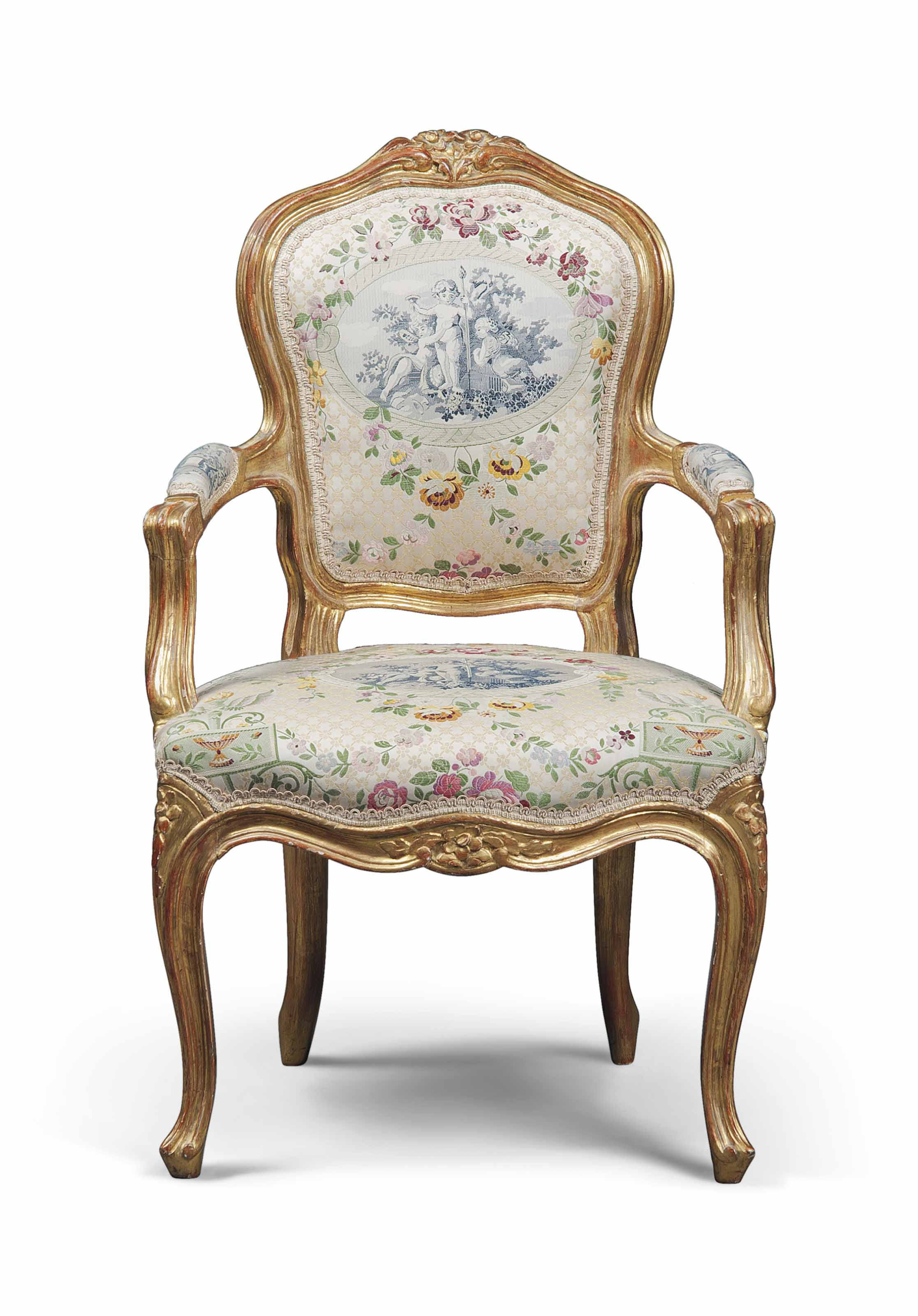 Fauteuils Style Louis Xv A Louis Xv Style Giltwood Miniature Fauteuil 19th Century