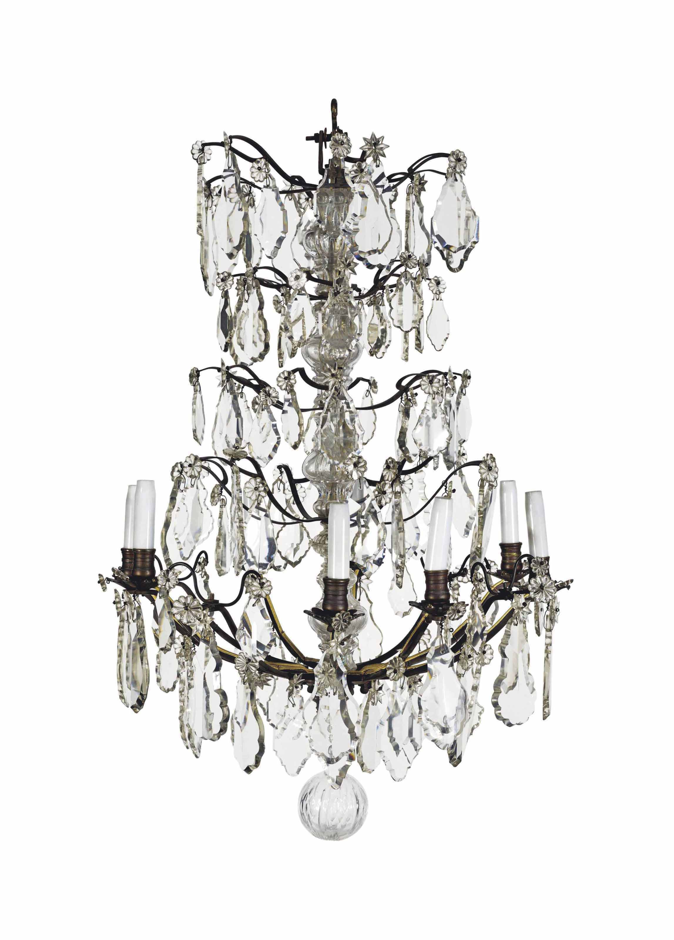 Lustre Cage Lustre Cage De Style Louis Xv Vers 1900 Furniture Lighting