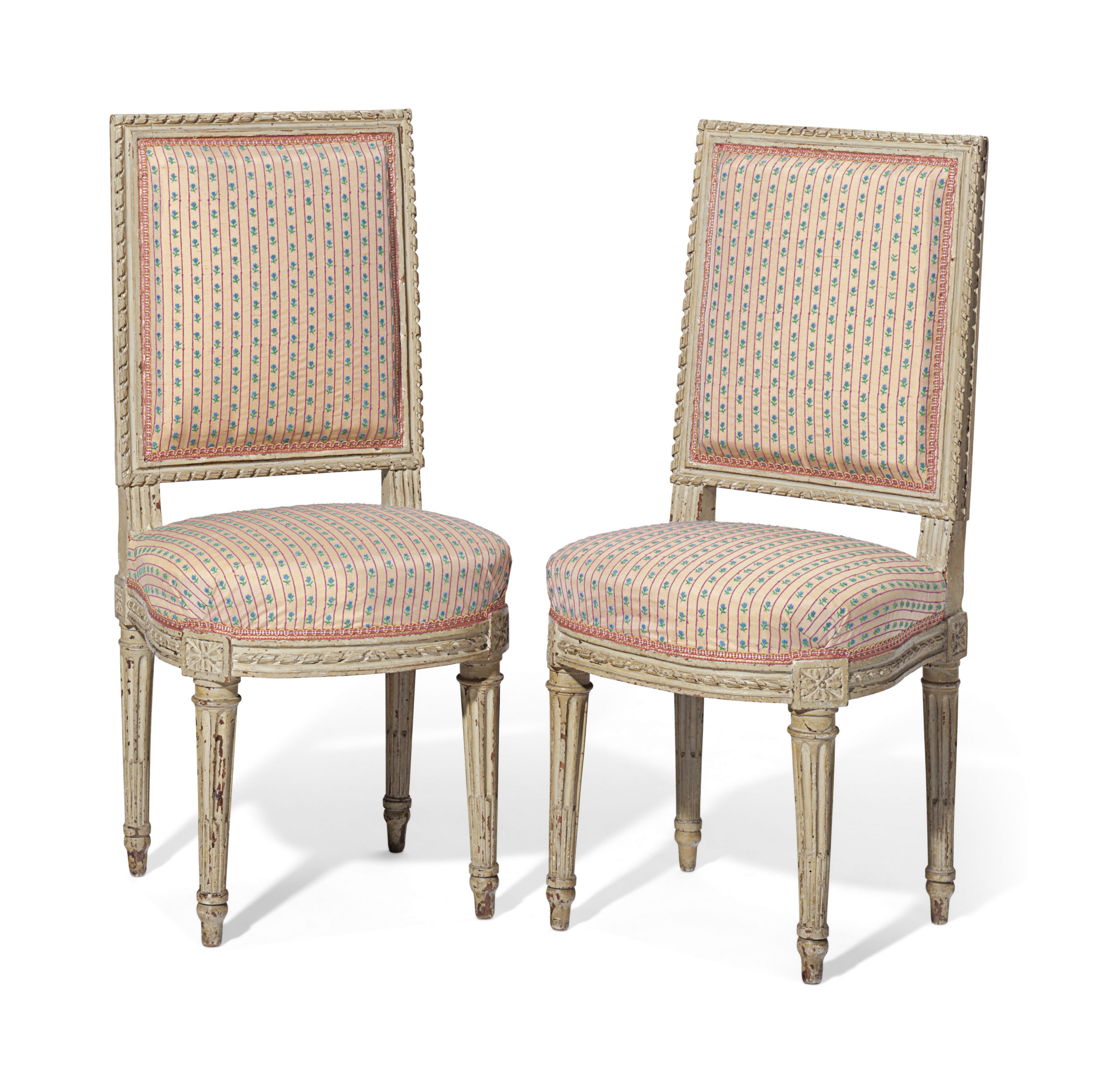 Chaises Elizabeth A Pair Of Louis Xvi Green Painted Chaises By Jean Baptiste