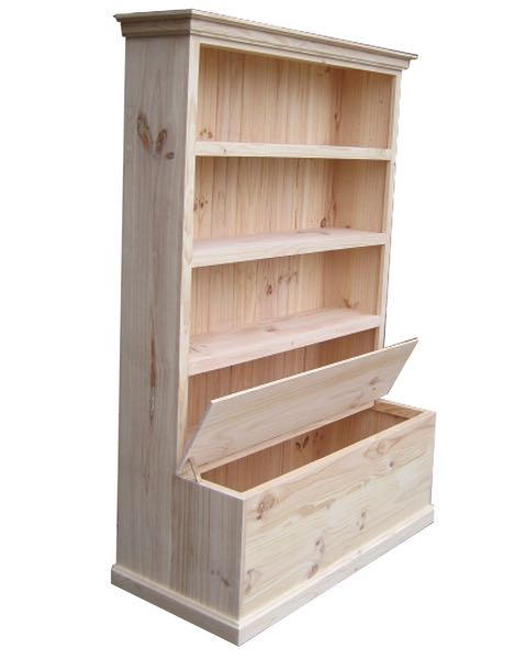 6×4 Deluxe Bookcase with Toy Box