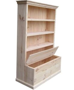6x4 Deluxe Bookcase with Toy Box