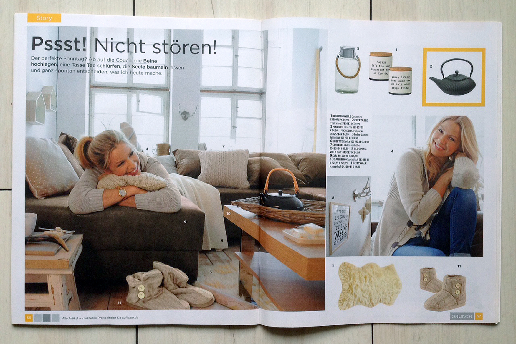 Baur Couchtisch Baur Magazin Moments Christina Bohlein Fashionstylist