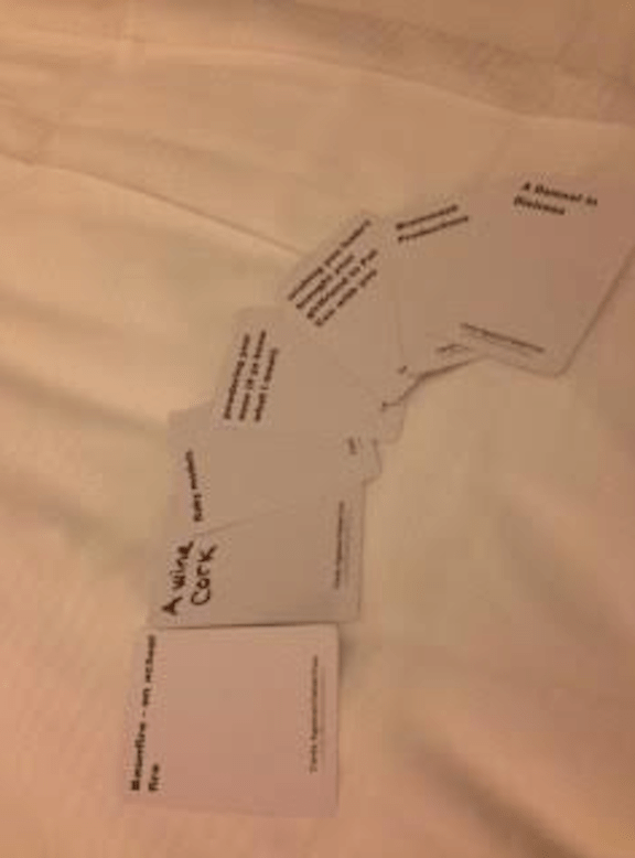 Cards against Fteish Con 1