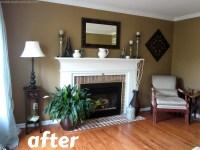 Living Room Make-Over! {Tan, White, Blue} - Christinas ...