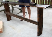 Easy DIY Sofa Table tutorial - Christinas Adventures