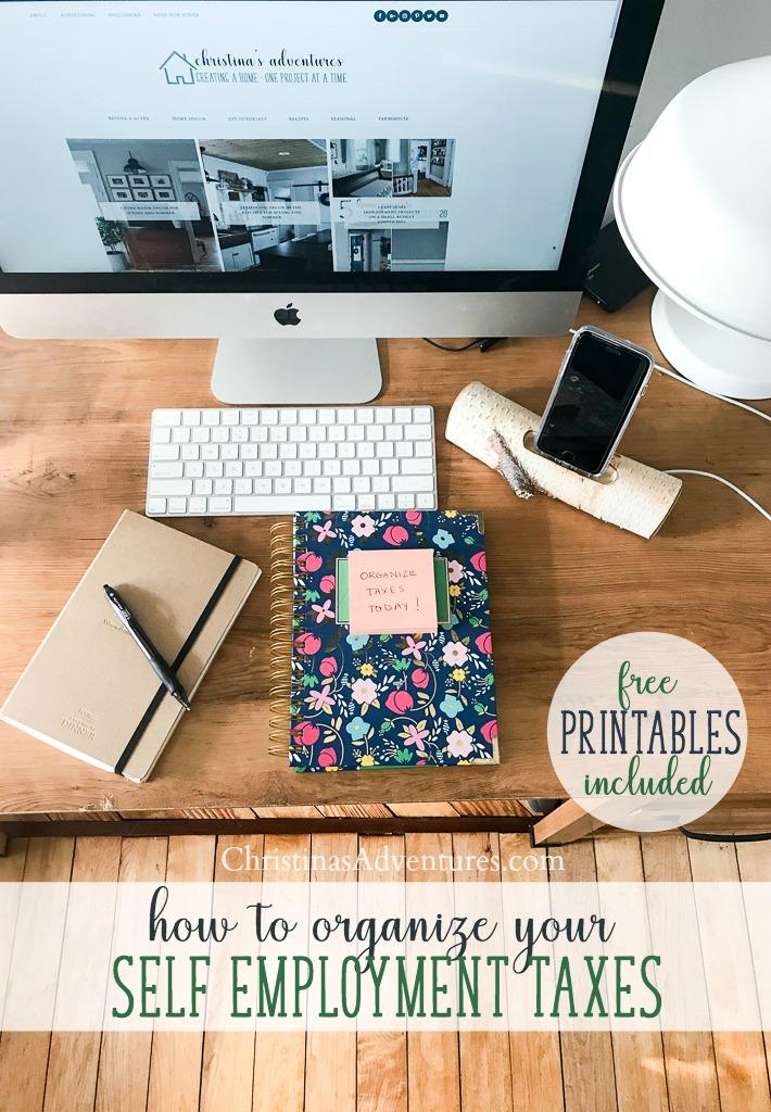 Organize Small Business Taxes {plus free printables} - Christinas