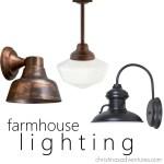 Copper Farmhouse Pendant Light