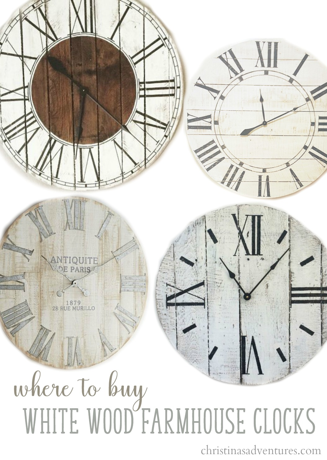 Buy Clock Where To Buy Farmhouse Wall Clocks Christinas Adventures