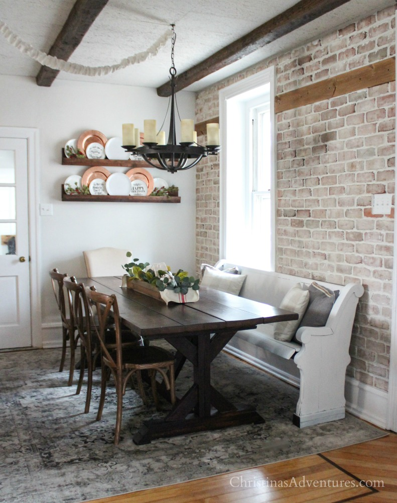 Dining Area Vintage Inspired Farmhouse Dining Room Makeover Reveal