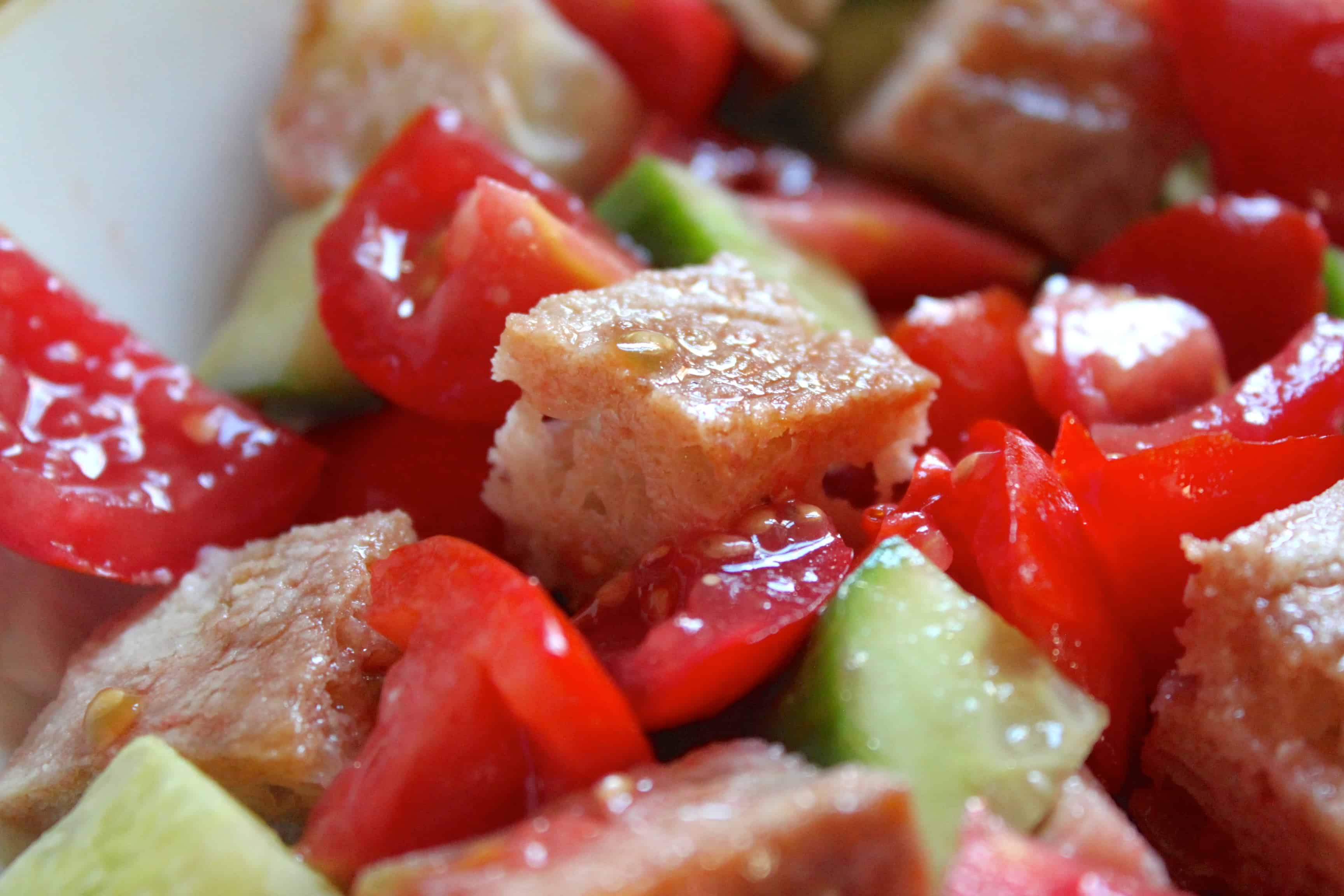 Cucina Povera Salad Panzanella Traditional Italian Bread And Tomato Salad