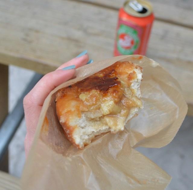 Vanilla Bourbon Creme Brulee Donut with Maker's Mark Custard filling