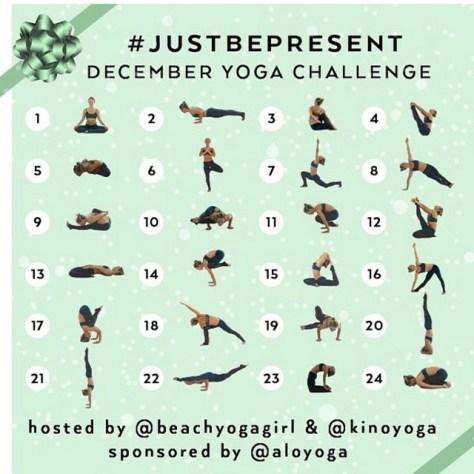 Just Be Present - December Yoga Challenge