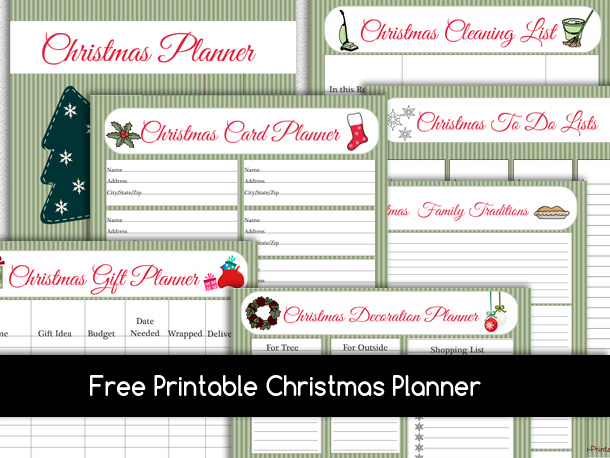 Free Printable Christmas Planner and To Do Lists