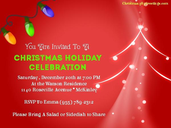 Christmas Party Invitation Ideas - Christmas Celebration - All about - holiday celebration invitations