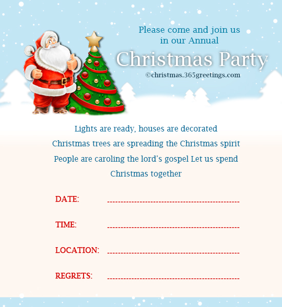 office holiday invitation wording