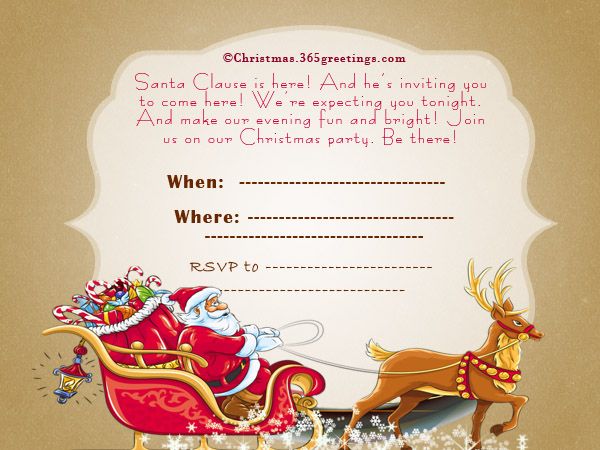 Christmas Invitation Template And Wording Ideas - Christmas - dinner invite templates