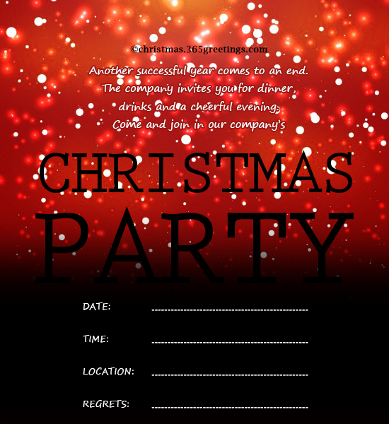 Christmas Invitation Template And Wording Ideas - Christmas - get together invitation template