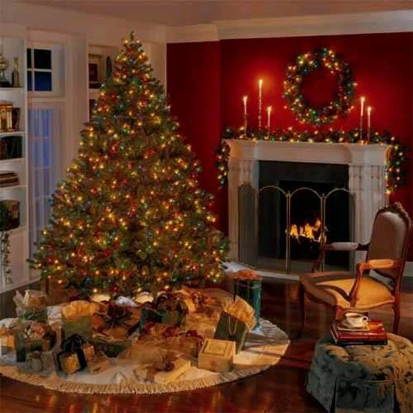 50 Most Beautiful Christmas Fireplace Decorating Ideas - Christmas - christmas fireplace decor