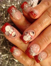 50 Amazing and Easy Christmas Nail Designs and Nail Arts ...