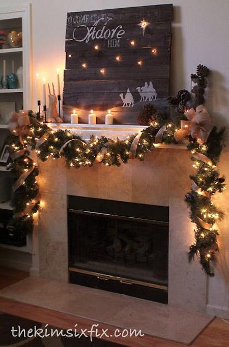 christmas decorations on pinterest - Rainforest Islands Ferry - christmas fireplace decor