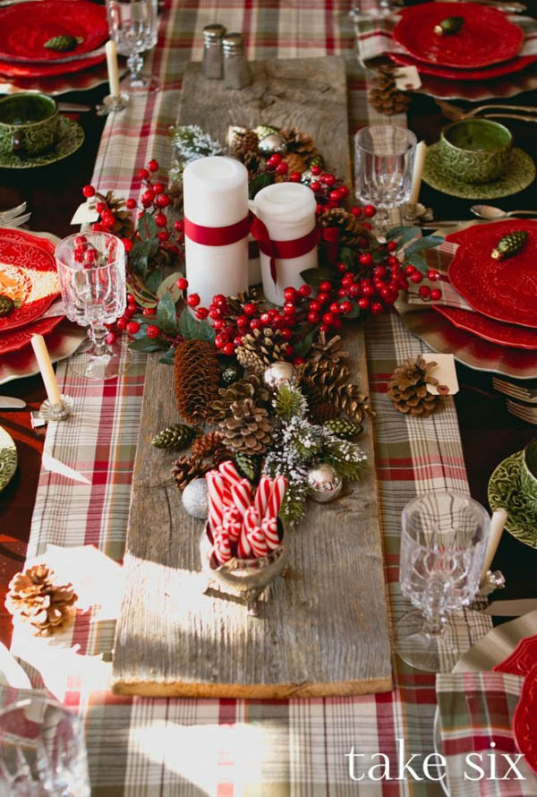 Top 50 Christmas Table Decorations 2017 on Pinterest u2013 Christmas - christmas table decorations pinterest