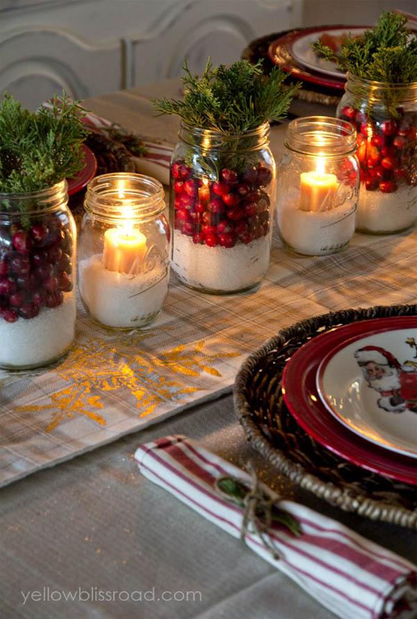 Christmas Decorating With Mason Jars Christmas Celebration