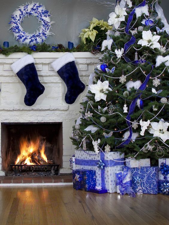 Top Blue And White / Blue And Silver Christmas Decorations