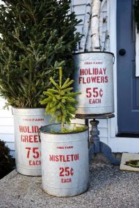 40 Rustic Outdoor Christmas Decorations Ideas  Christmas ...