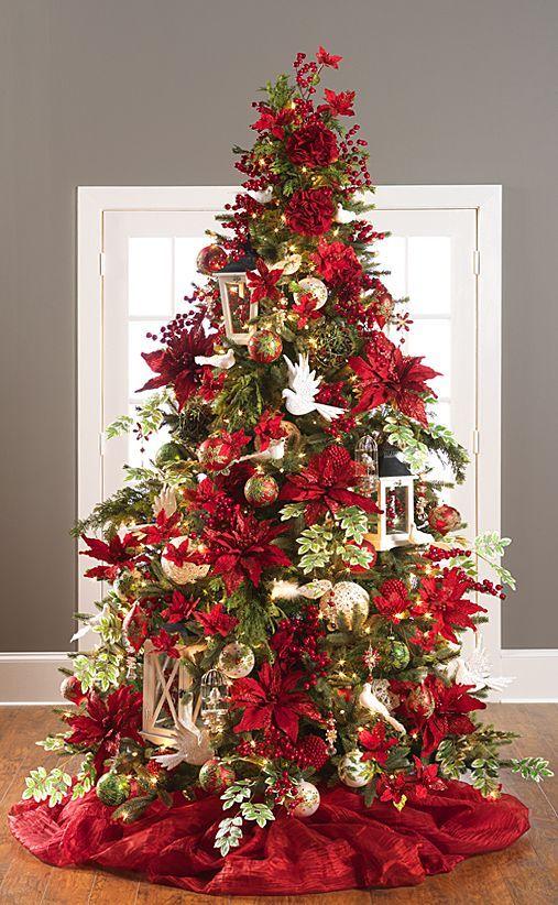 red christmas tree decorations ideas christmas celebration saveenlarge - Red Christmas Tree Decorating Ideas