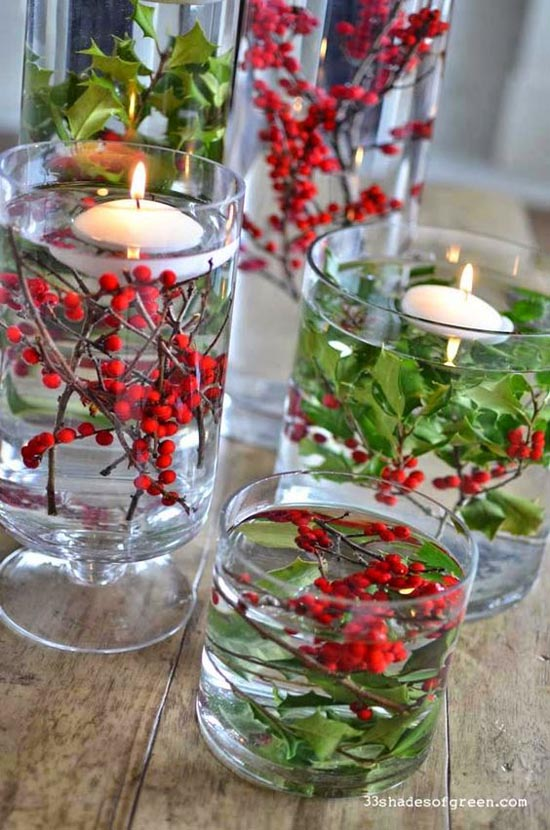 40+ Fabulous Christmas Centerpiece Ideas and Inspirations - All - christmas floral decorations