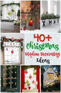 40+ Stunning Christmas Window Decorations Ideas - All ...