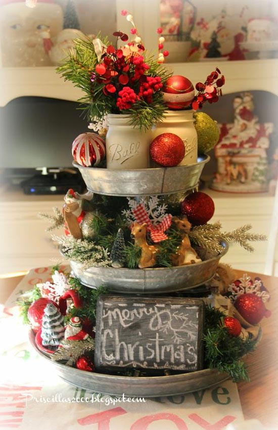 Tall Kitchen Island Table 35 Glamorous Vintage Christmas Decorating Ideas - All