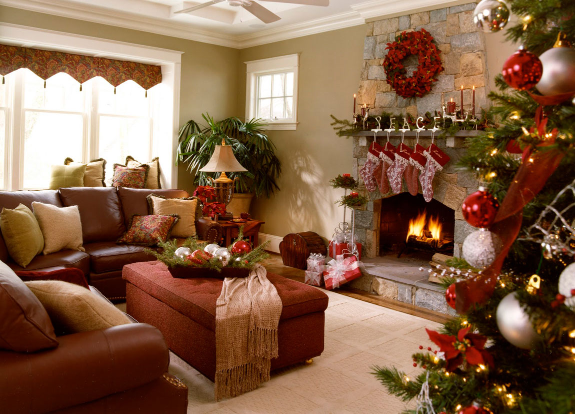 Decoration Room 40 Fantastic Living Room Christmas Decoration Ideas All