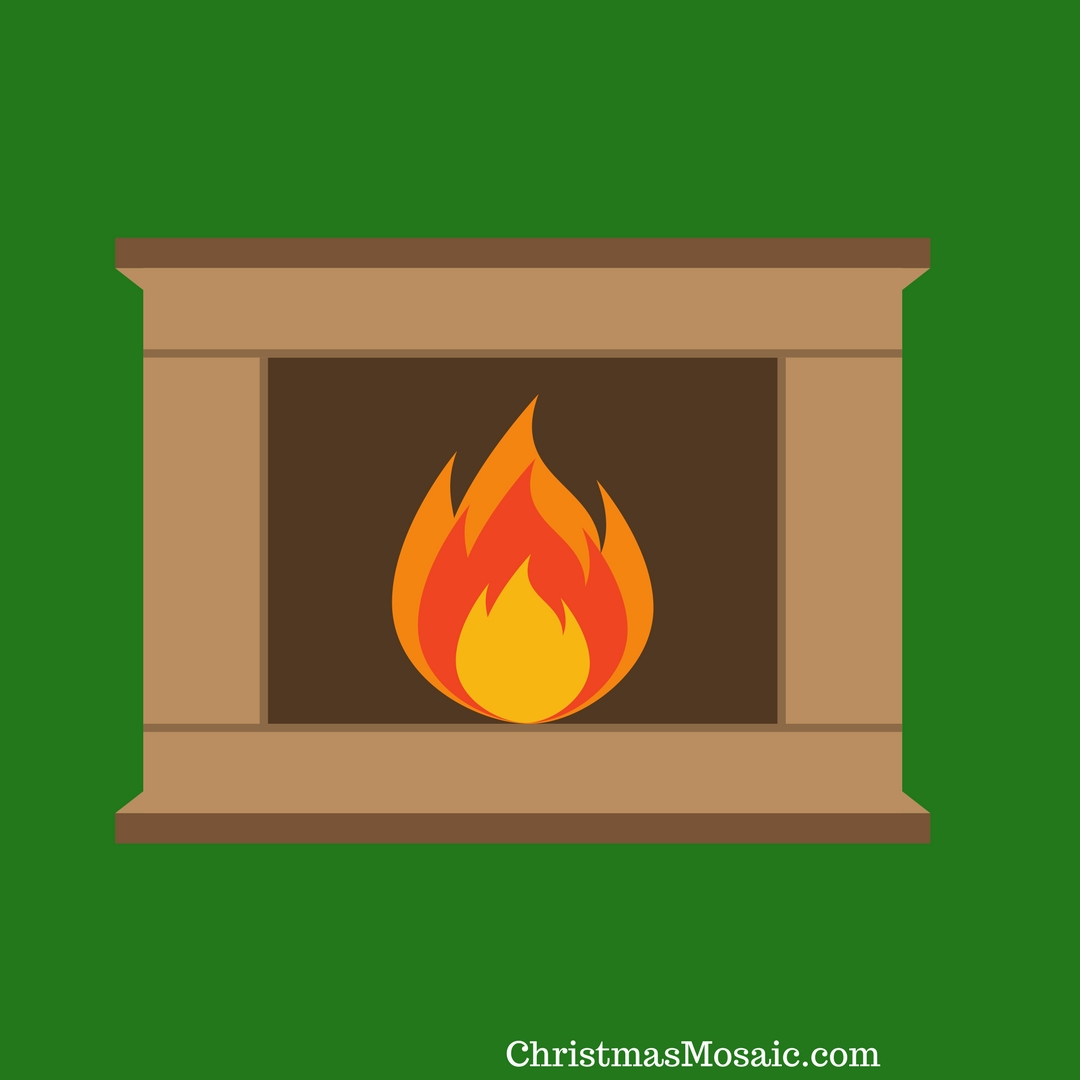 Fireplace Decal Christmas Fireplace Wall Decal Christmas Mosaic