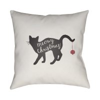 Black Cat Christmas Throw Pillows | Christmas Mosaic