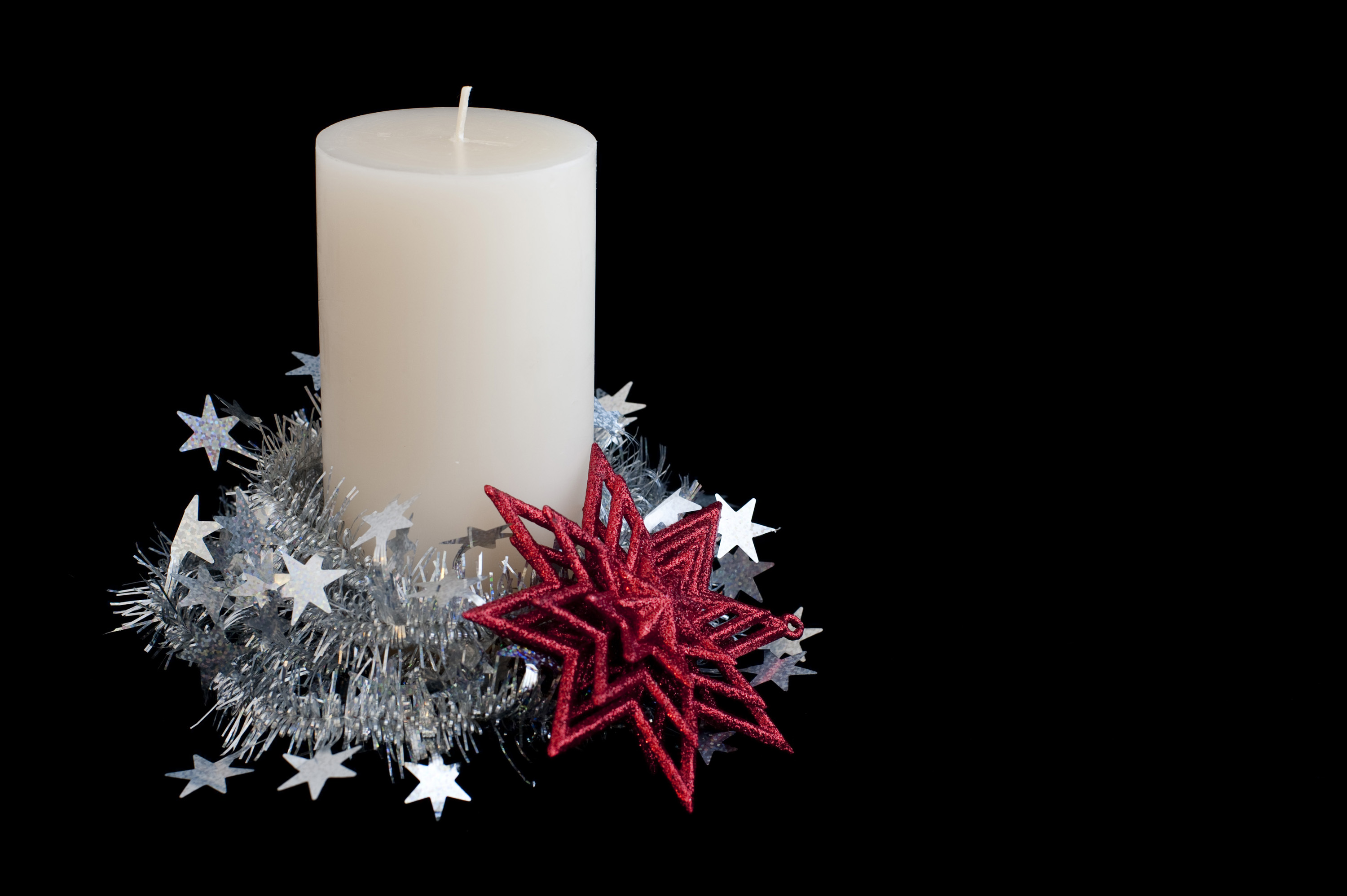 Christmas Candle Black And White Photo Of Unlit Christmas Candle Free Christmas Images