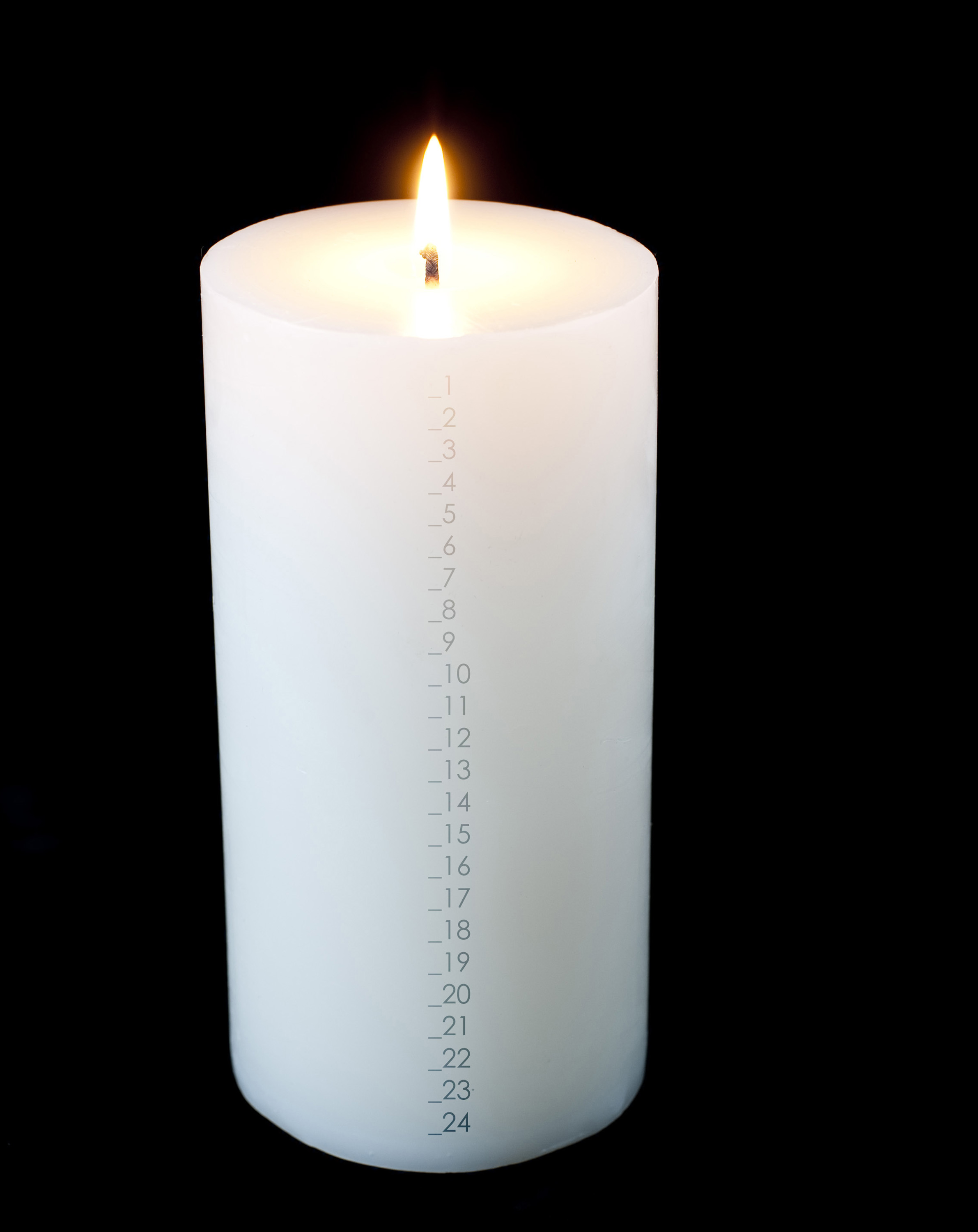 Christmas Candle Black And White Photo Of Advent Countdown Candle Free Christmas Images