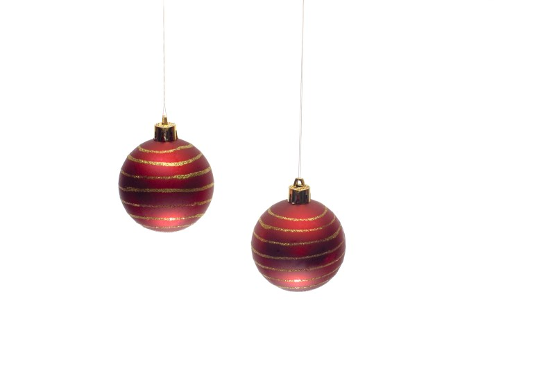 Aweinspiring Two Red Hanging Baubles Photo Hanging Ornaments Free Images Red Ornaments Clipart Red Ornaments Png