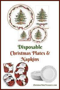 Christmas Disposable Plates & Napkins ...
