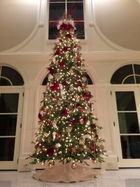 Red, White, & Champagne - Christmas Tree Decorating Ideas