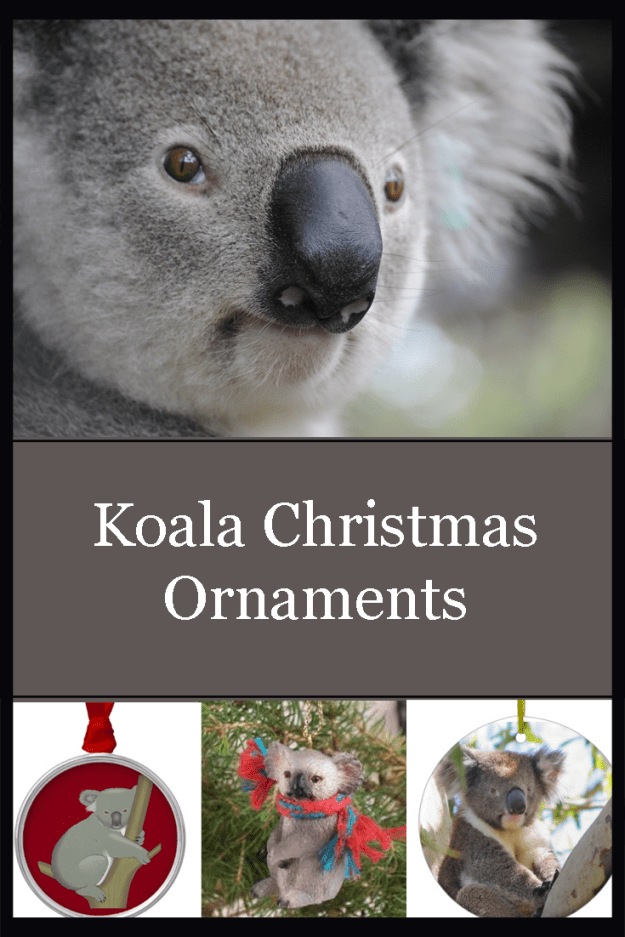 Gorgeous selection of koala Christmas ornaments