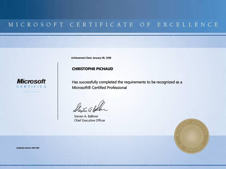 Microsoft Certificate of Excellence \u2013 Do it matters ? \u2013 Services vs