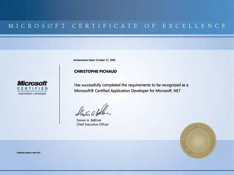 Microsoft Certificate of Excellence \u2013 Do it matters ? \u2013 Services vs - certificate microsoft