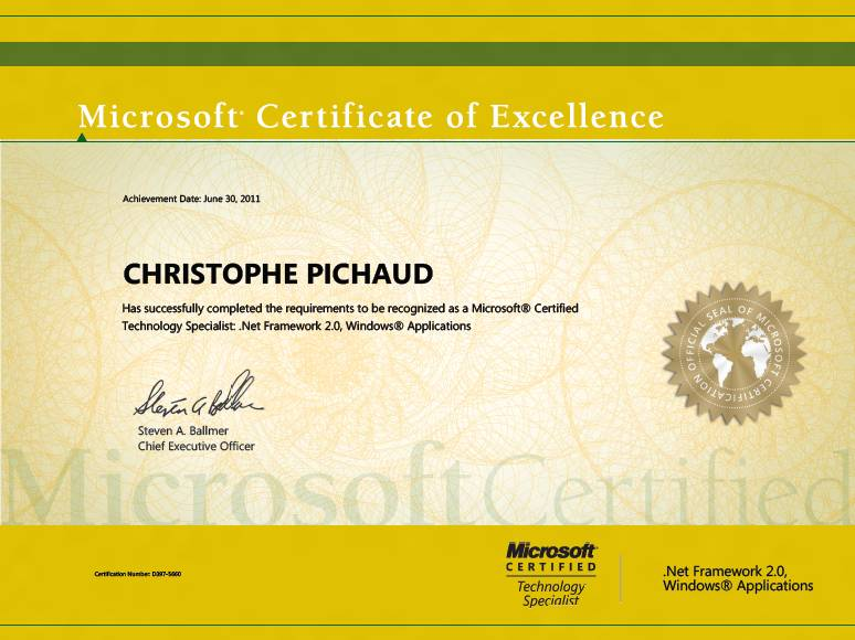 Microsoft Certificate of Excellence \u2013 Do it matters ? \u2013 Services vs - microsoft certificate of excellence