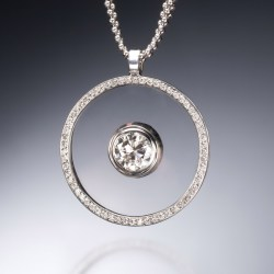 Small Crop Of Floating Diamond Necklace