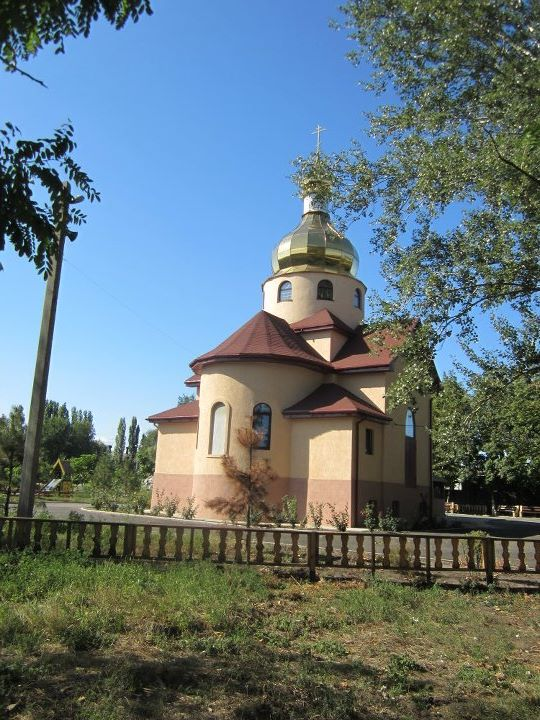 A small orthodox church in Ukraine